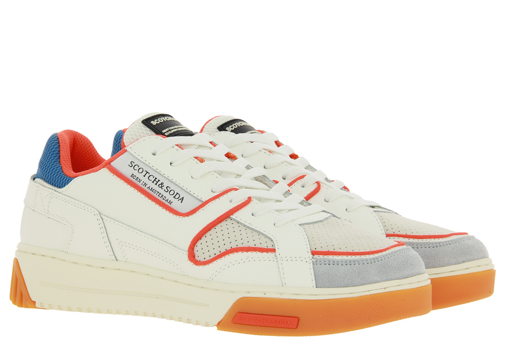 Scotch & Soda sneaker NEW CUP LEATHER WHITE