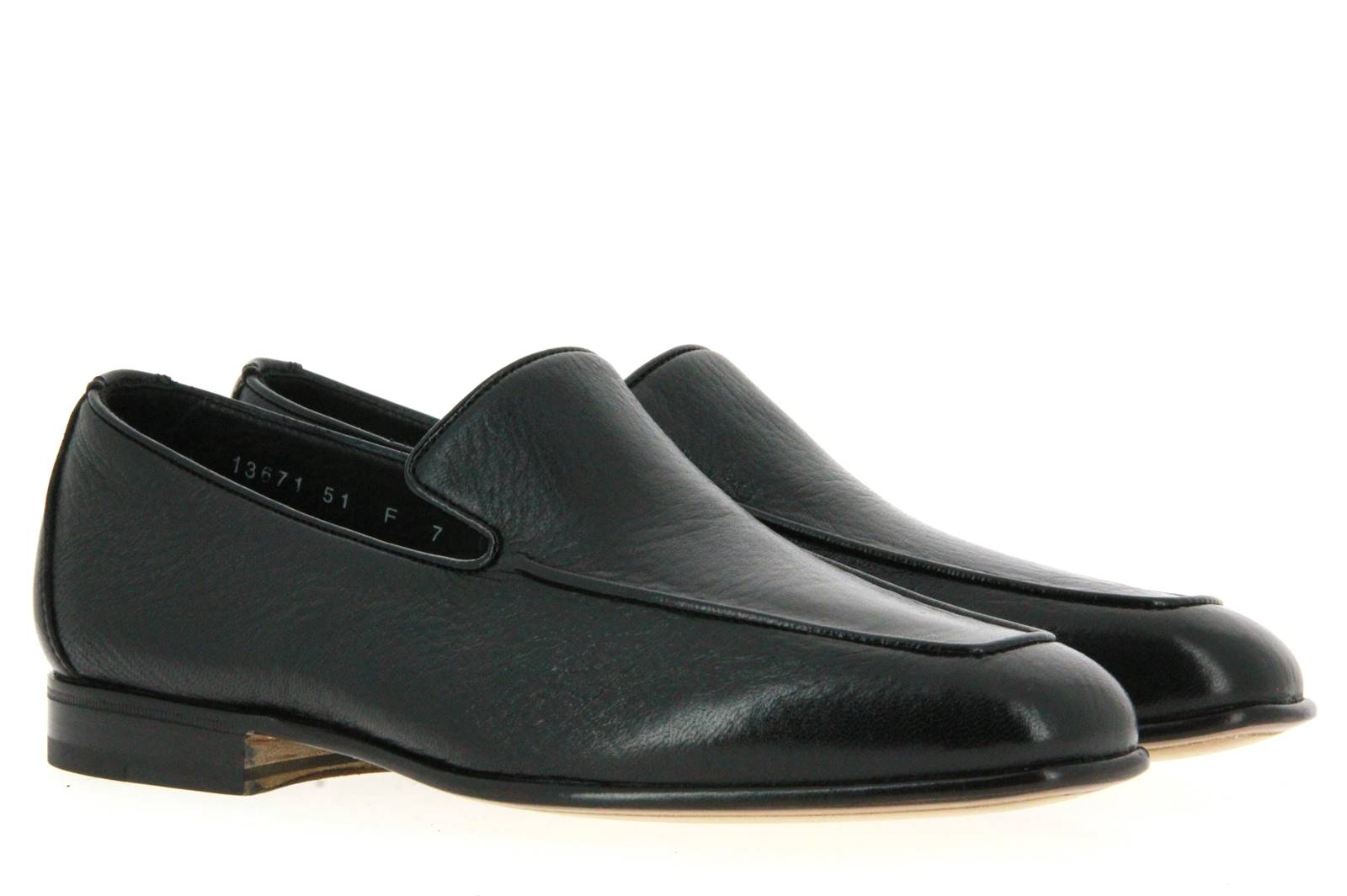 Santoni slipper MCAG LEATHER BLACK