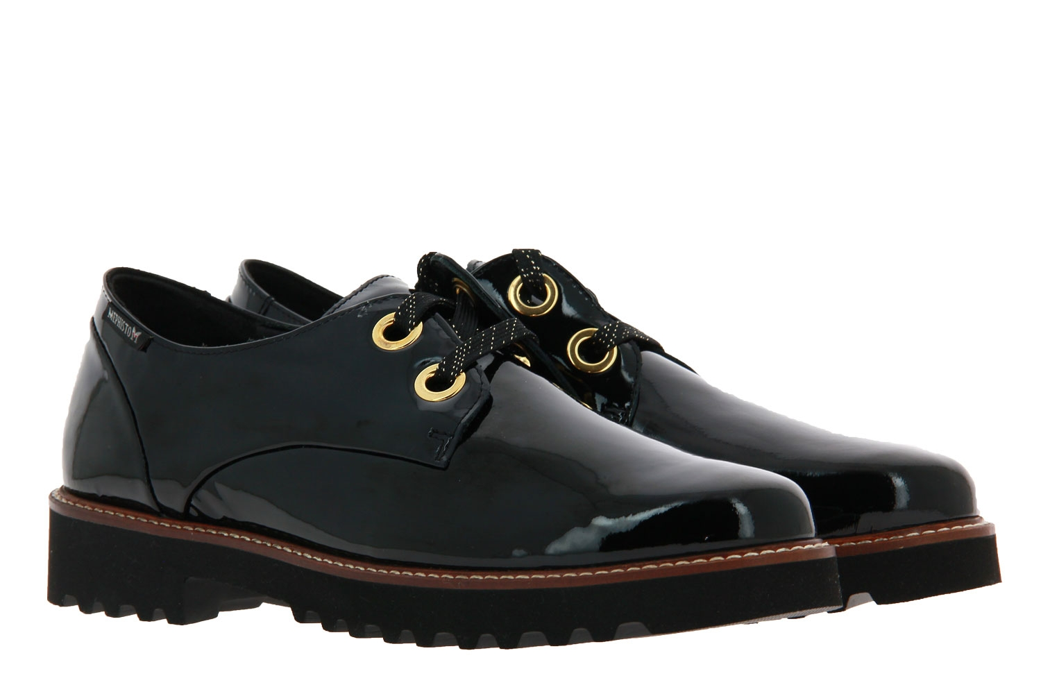Mephisto lace-up SANCHA BLACK VERNIS