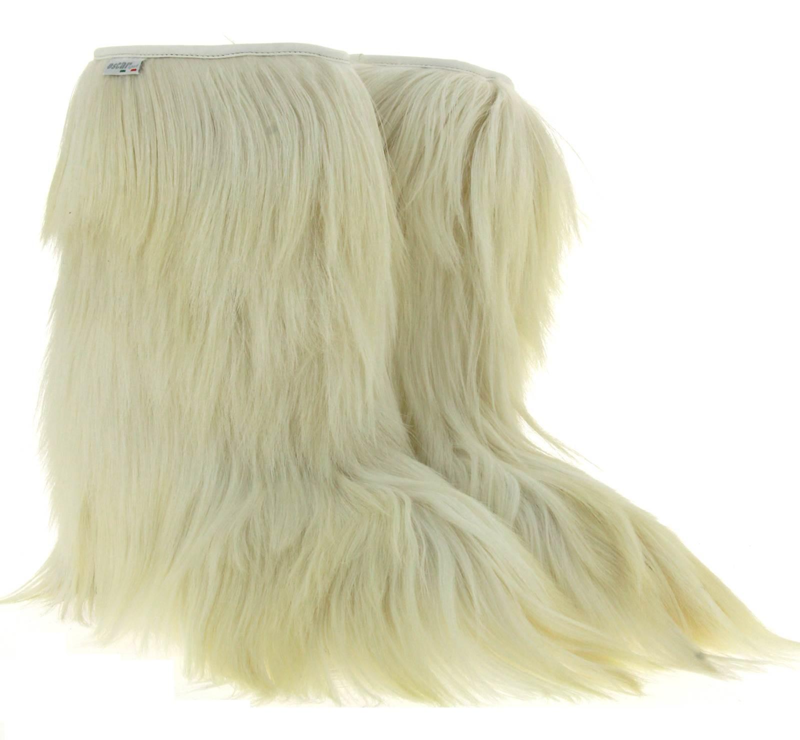 Oscar Sport women-fur boots CAPRA BIANCO