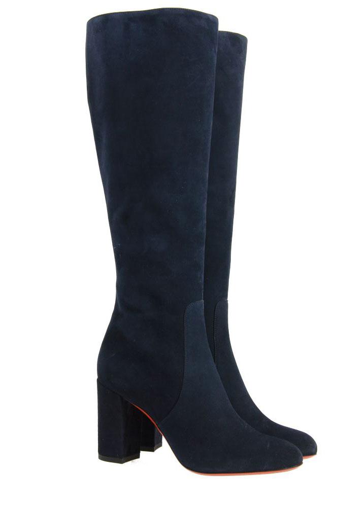 Santoni boots VELOURSLEDER BLAU