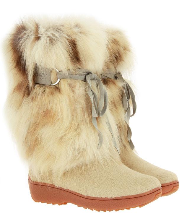 Oscar Sport fur boots VOLPE SABBIA ICEBURG