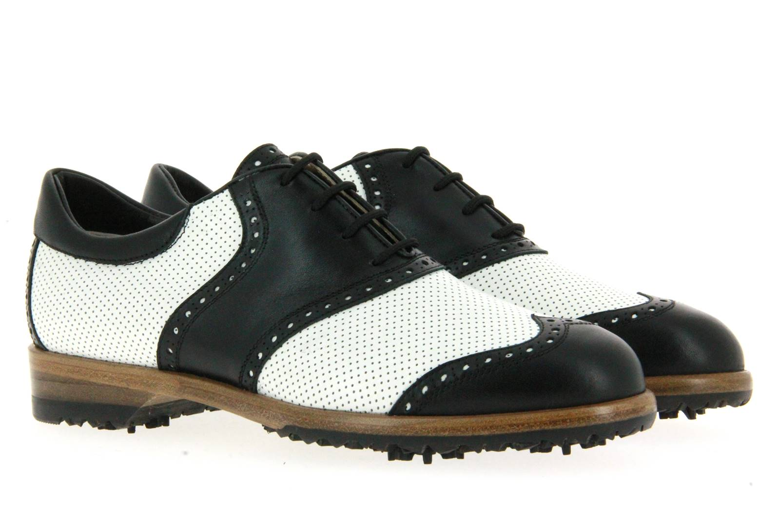 Tee Golf Shoes women's - golf shoe SUSY PERFORATO BIANCO NERO