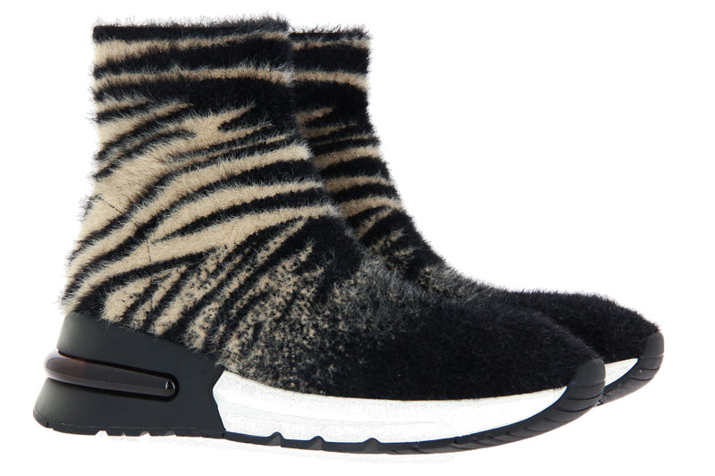 Ash sock-sneaker KING CREAM BLACK
