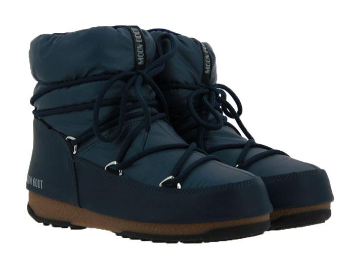 Moon Boot snow boots LOW NYLON DENIM BLUE