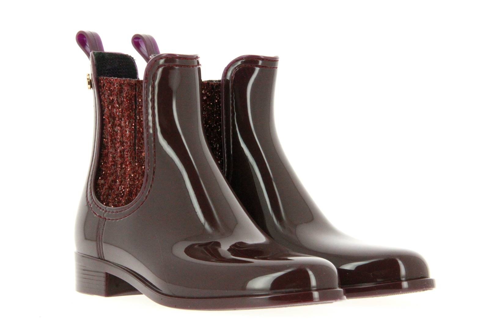 Lemon Jelly rubber ankle boots SARDENHA WINE