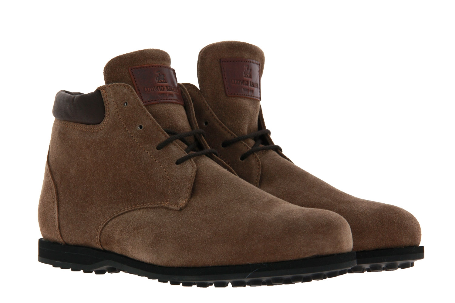 Ludwig Reiter lace-up boots lined GRINZINGER VELOUR TABAC