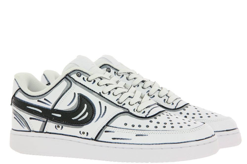 Nike by BallodaSola Sneaker CARTOON BLACK WHITE