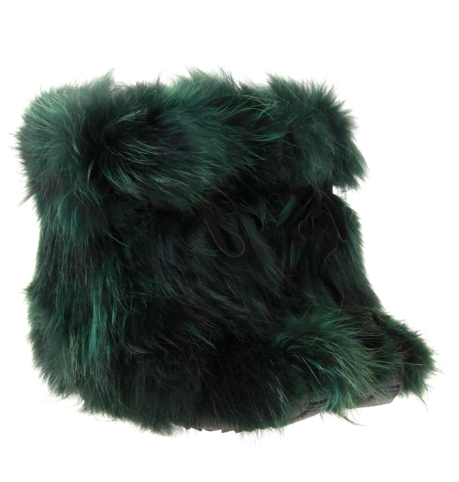 Oscar Sport fur boots BAFFY SHORT VERDE