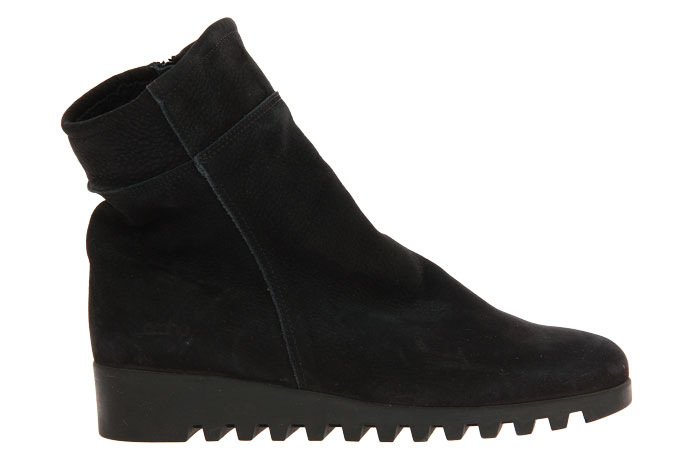 Arche ankle boots lined LOMENE HUNTER DOUBLE TEXTILE NOIR