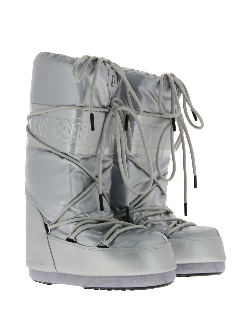 Moon Boot snow boot CLASSIC PLUS METALLIC SILVER