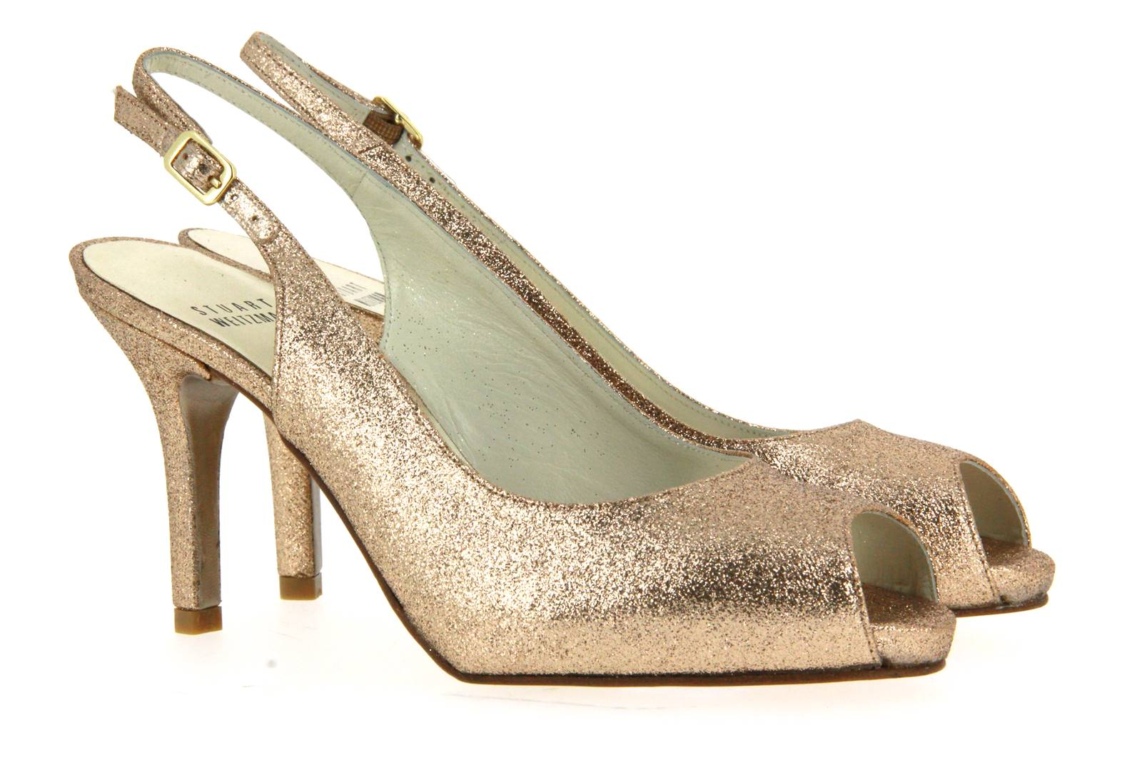 Stuart Weitzman sandal LITLEY SAND MINI GLITTER