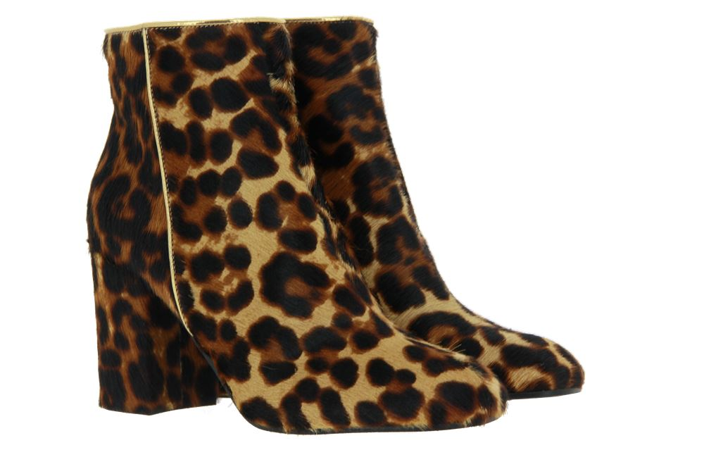 Pollini ankle boots lined PONY LEOPARDINO