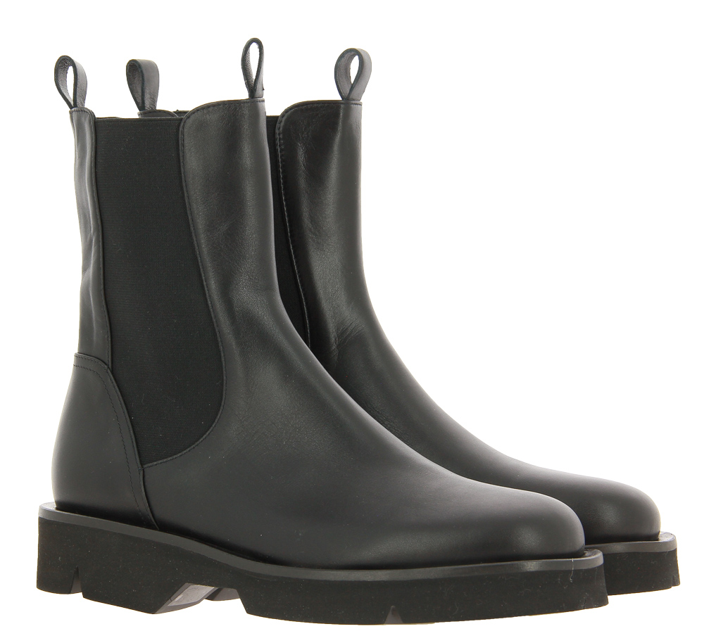 Pomme d' Or ankle boots SETA NERO GOMMA NERA