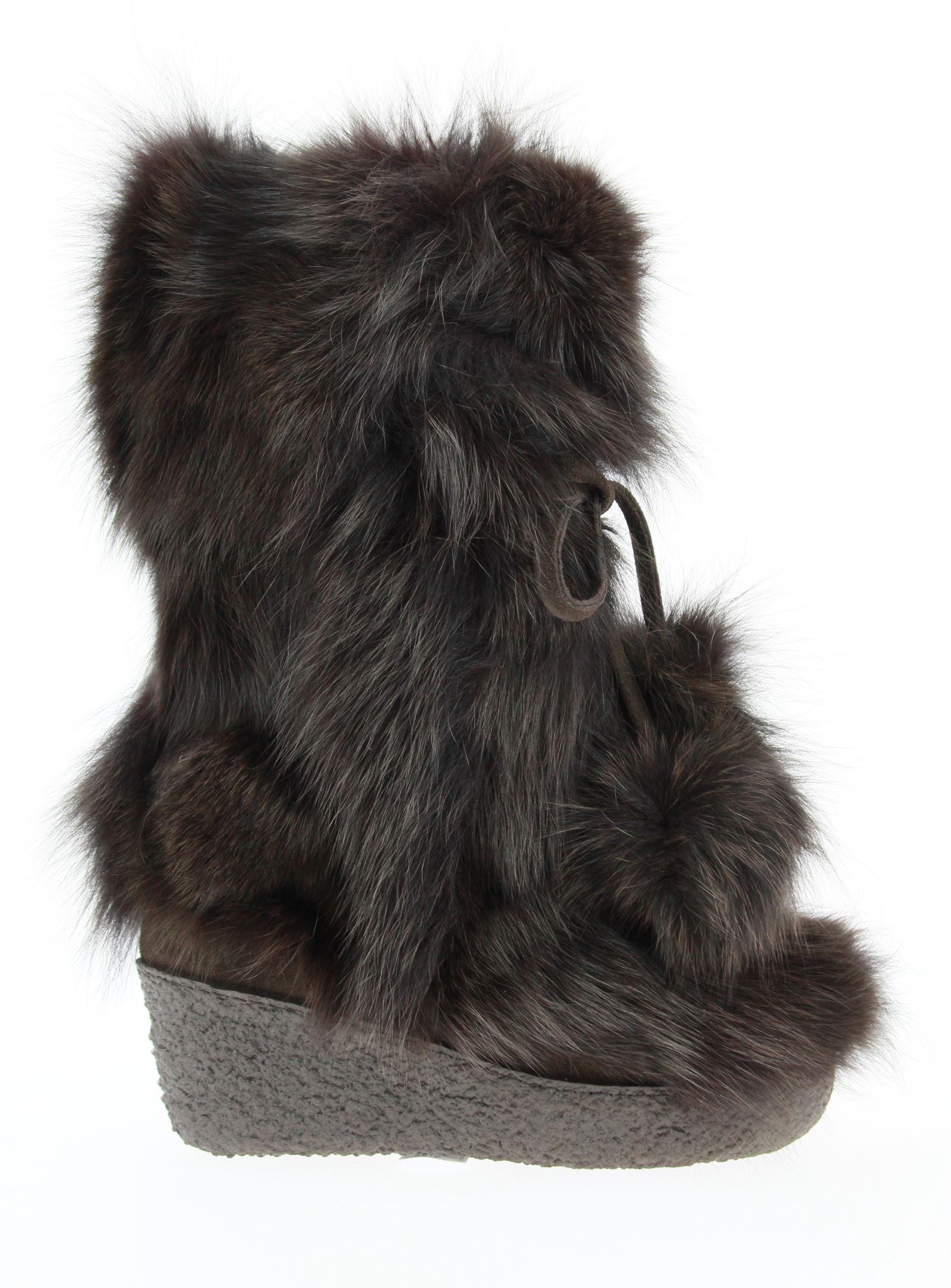 Diavolezza fur boots FOX MORO ZEPPA
