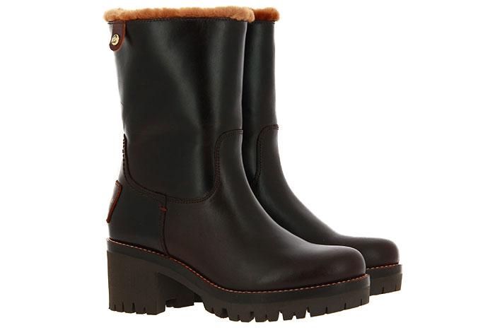 Panama Jack ankle boots lined PIOLA IGLOO BARK PULL-UP MARRON
