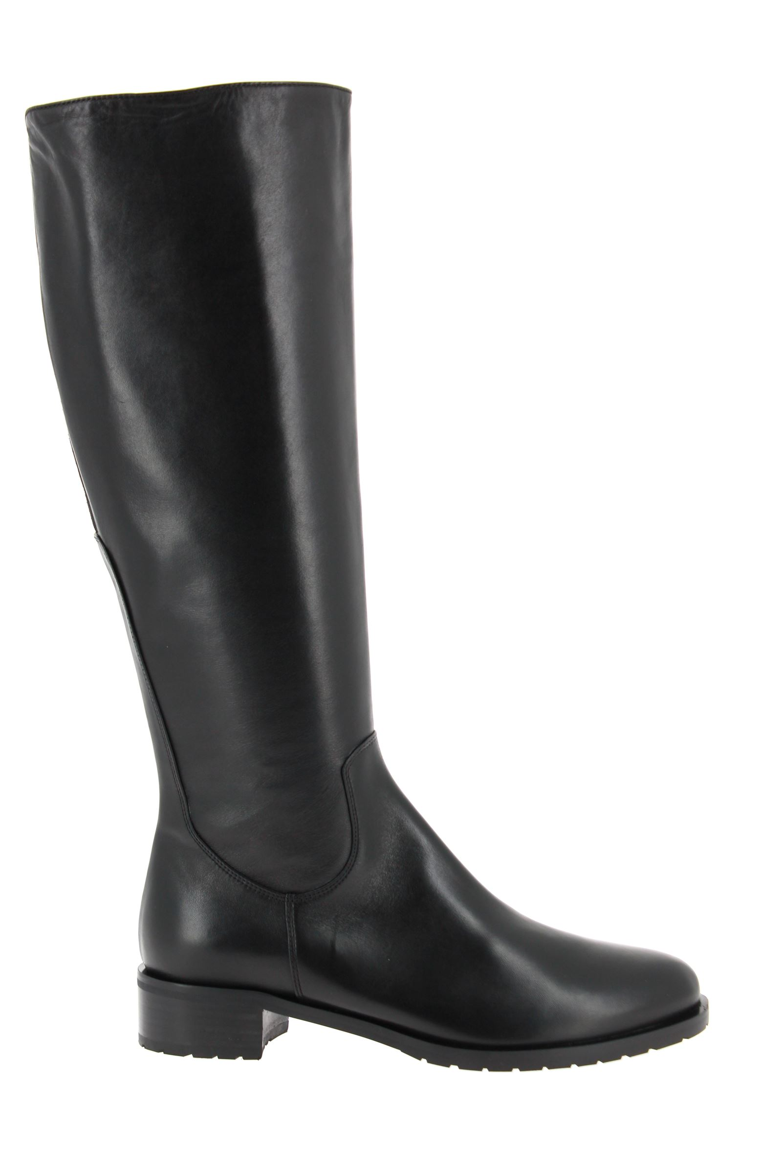 ScarpaRossa wide shaft boots CALF NERO