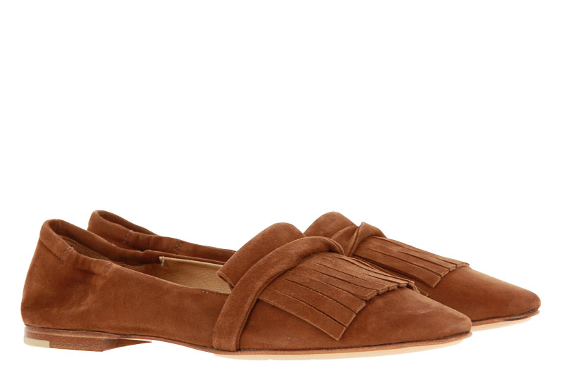Pomme D`Or slipper CAMOSCIO CARAMEL CUOIO NATURALE