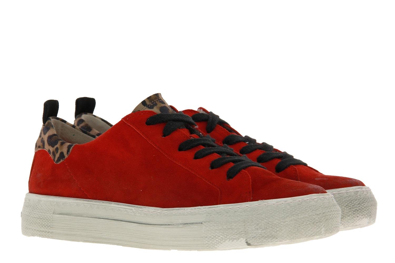 Paul Green sneaker SAMTZIEGE LEOPARDINO RED CAMEL
