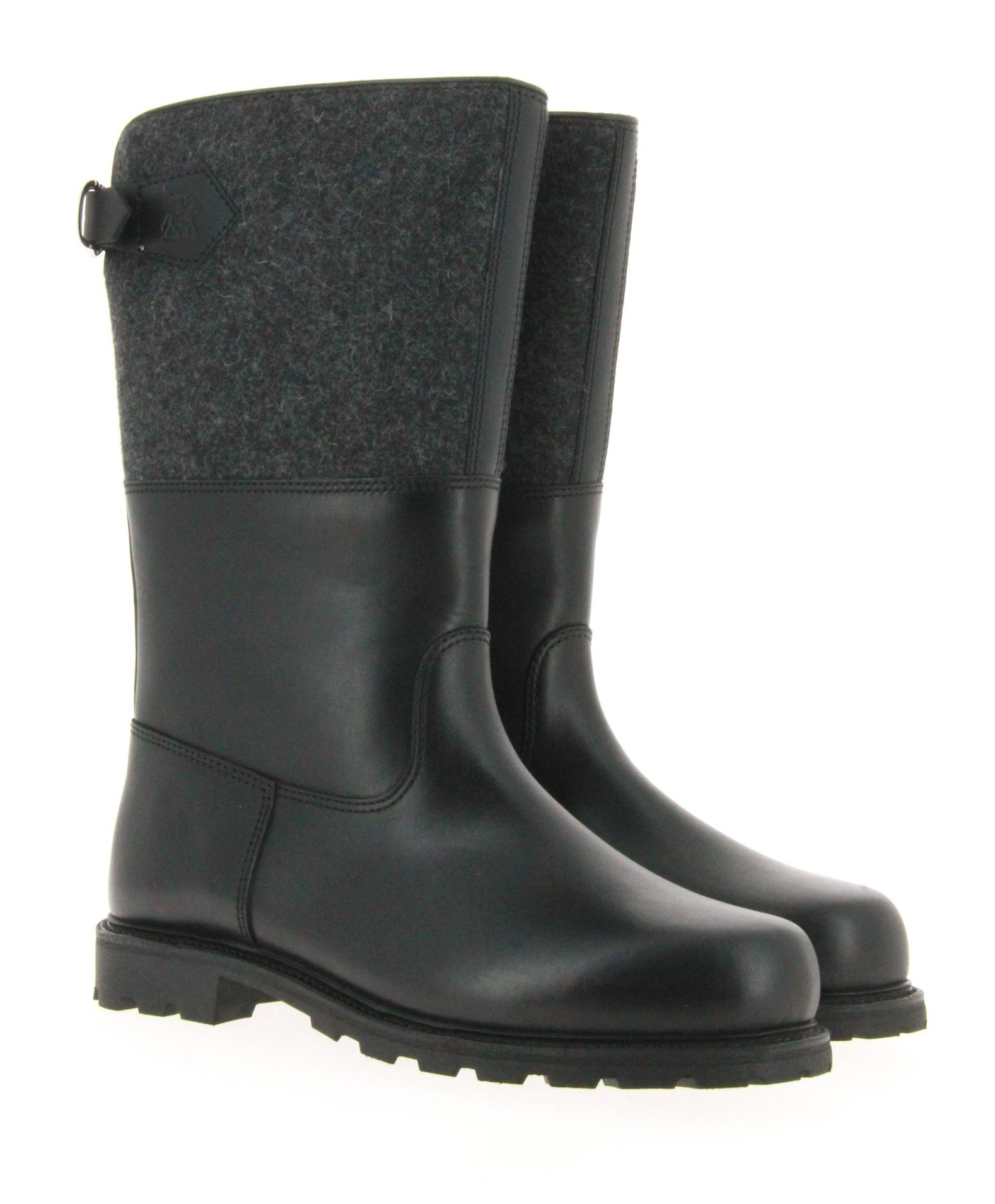 Ludwig Reiter boots lined MARONIBRATER RUSSIA LEATHER BLACK FELT ANTRA