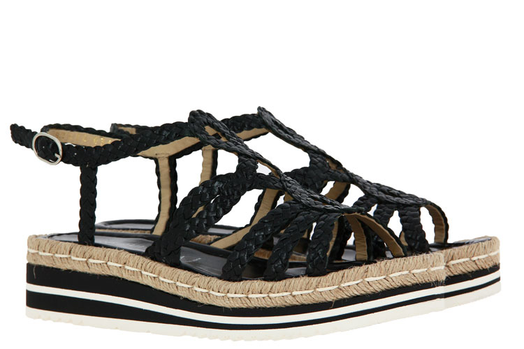 Pons Quintana sandals MILAN NEGRO TRENZADO