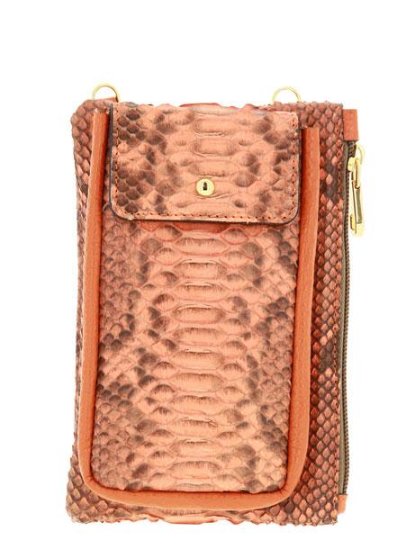 Carol J. shoulder bag PITHON DOLLARO ORANGE