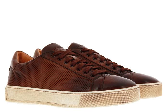 Santoni sneaker LEATHER ANTIK BROWN