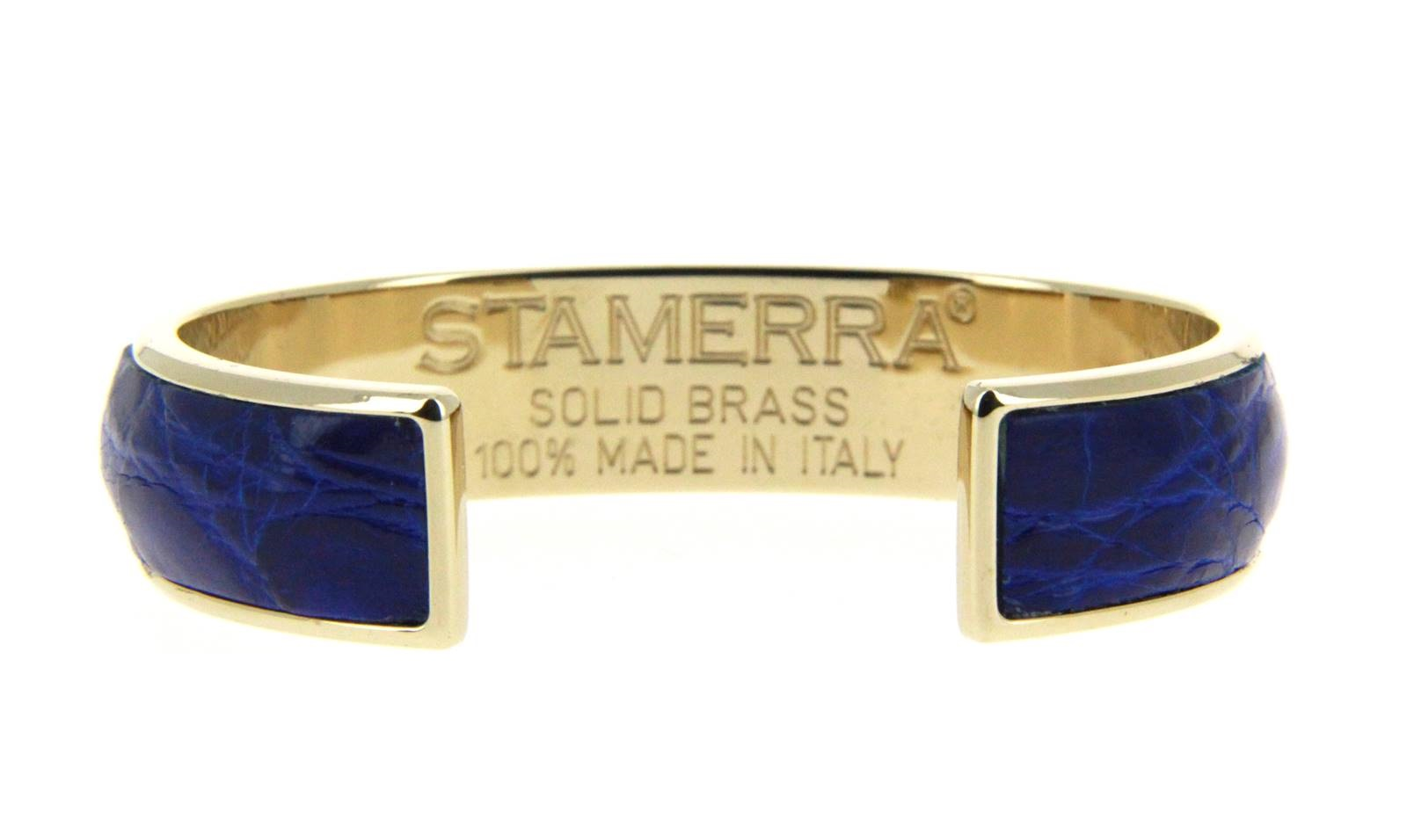 Stamerra bracelet VERO GENUINE CROCO GOLD ELETTRICO