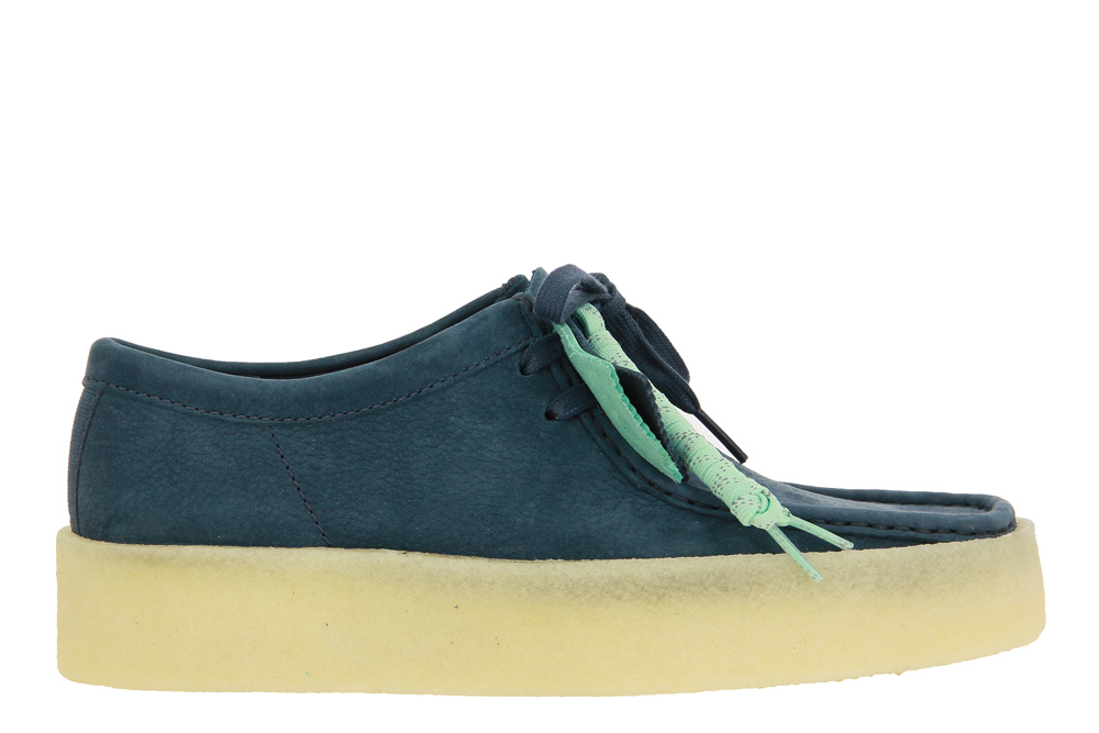 Clarks lace-up WALLABEE CUP BLUE NUBUCK
