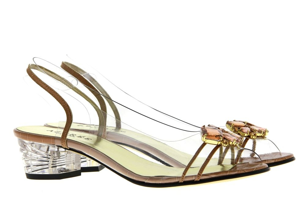 Azuree Cannes sandals NULACO 84TC MAGGI NUDE MOTIF NUDE