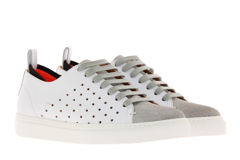 Levius sneaker RIVA HOLE CAMOSCIO BIANCO GHIACCIO