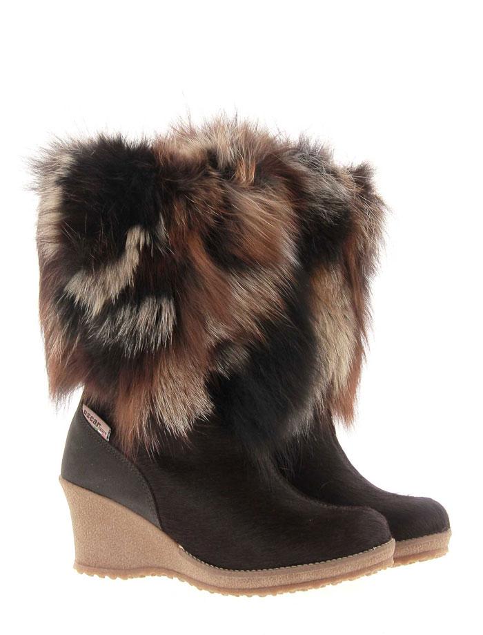 Oscar Sport fur boots ANGELICA BROWN