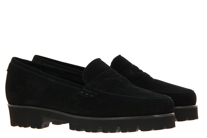 Pas de rouge slipper lined MARTA CAMOSCIO NERO