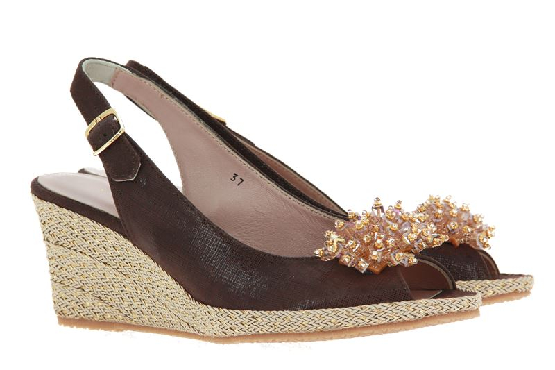 La Badia wedge sandals ESTER CARTIZZE MORO