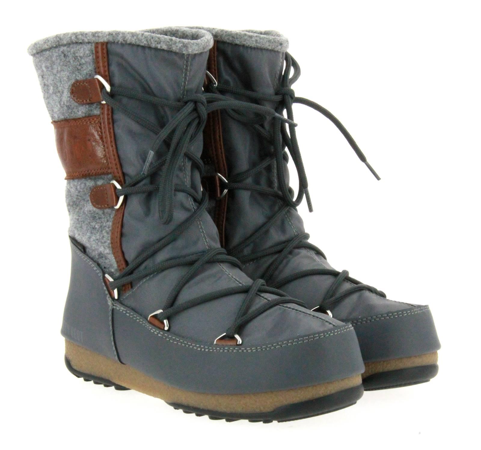 Moon Boot snow boots VIENNA FELT GREY BROWN