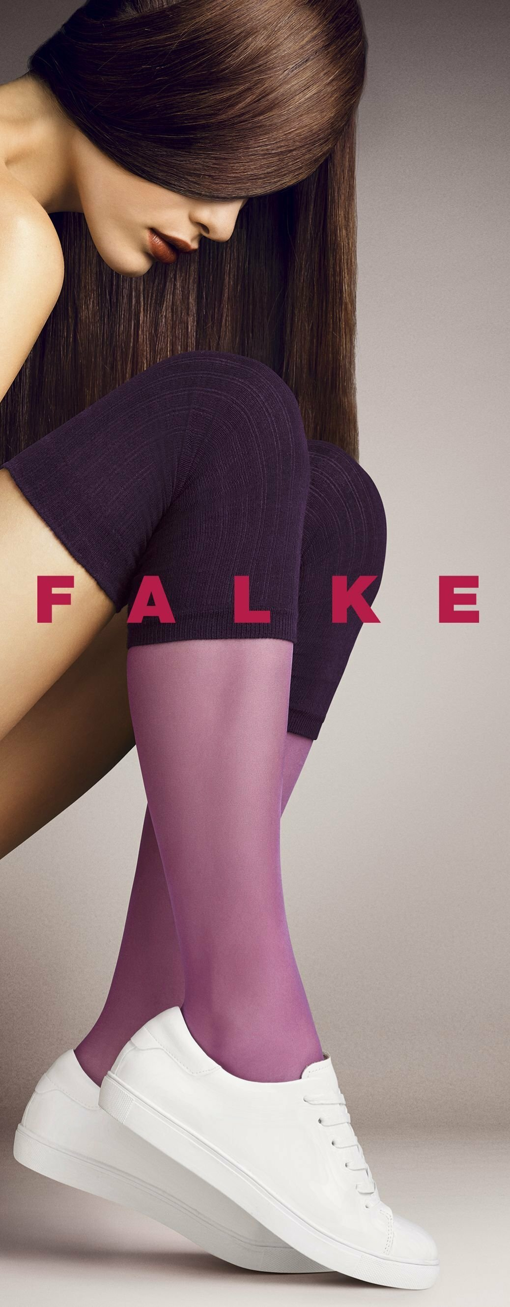 FALKE silk smooth 15 DEN ladies knee socks PLATINUM