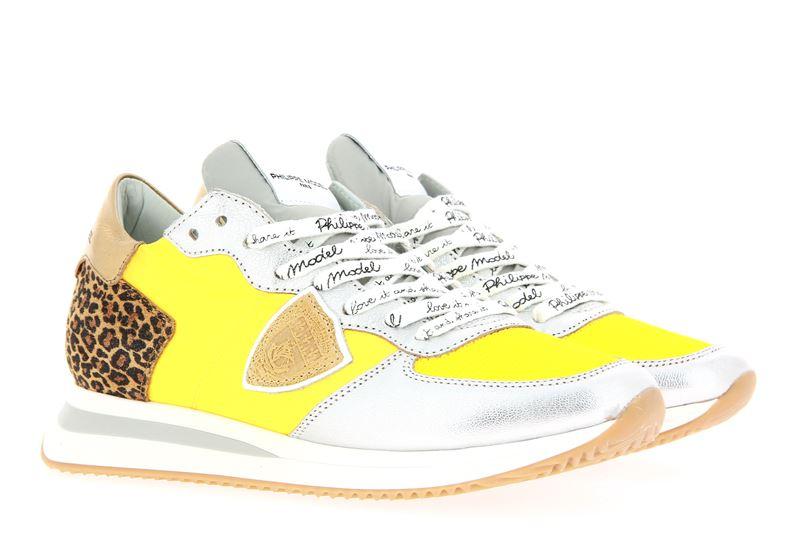 Philippe Model sneaker TROPEZ MONDIAL LEO JAUNE ARGENT