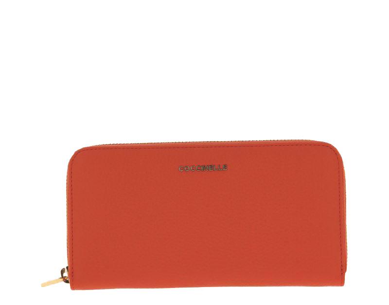 Coccinelle purse METALLIC SOFT GRAIN PEACH