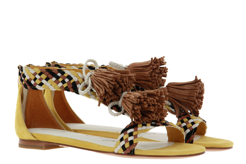 Lola Cruz sandals CAMOSCIO AMARILLO