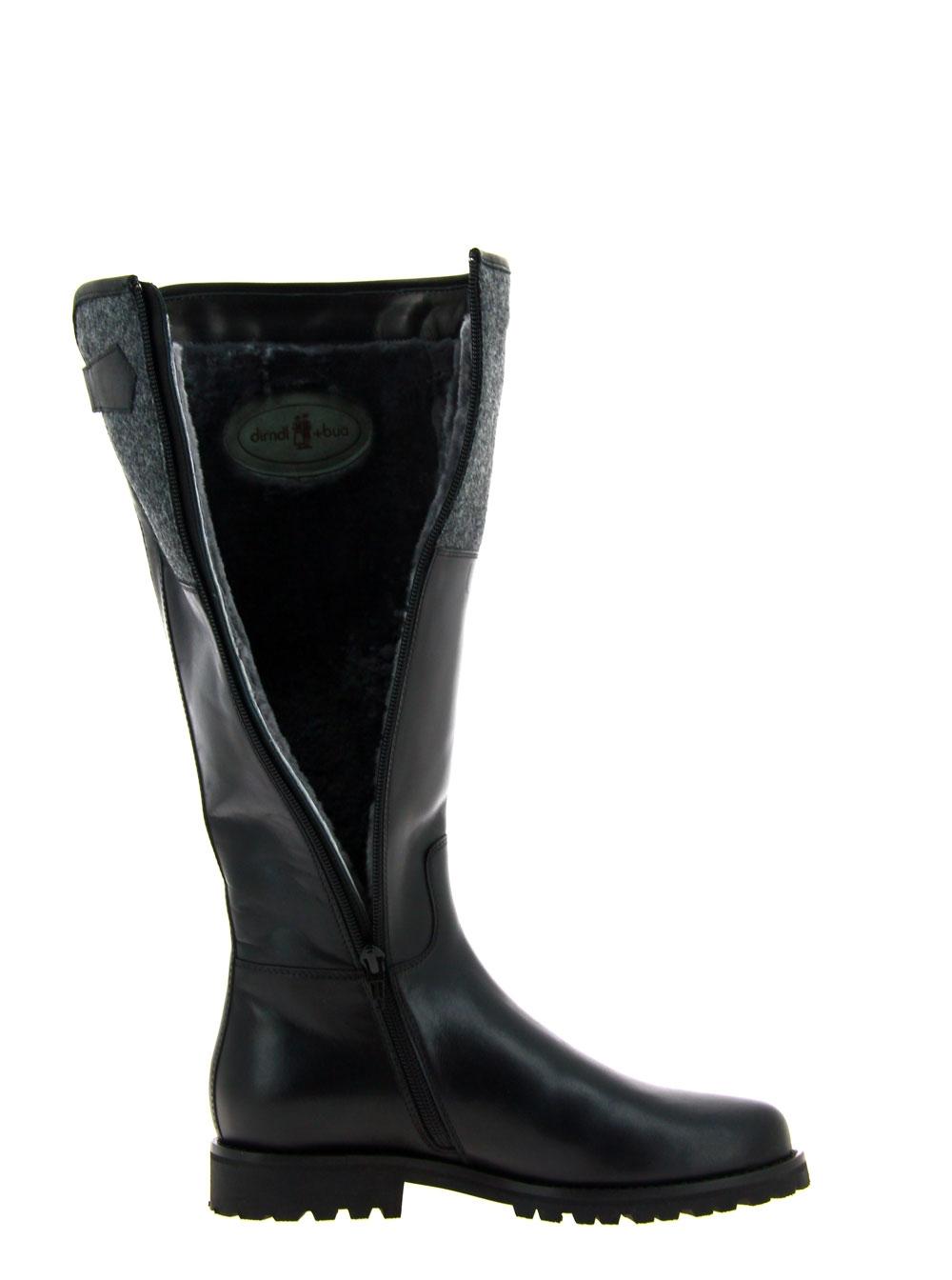 Dirndl und Bua boots lined CRUST LODEN SCHWARZ GRAU