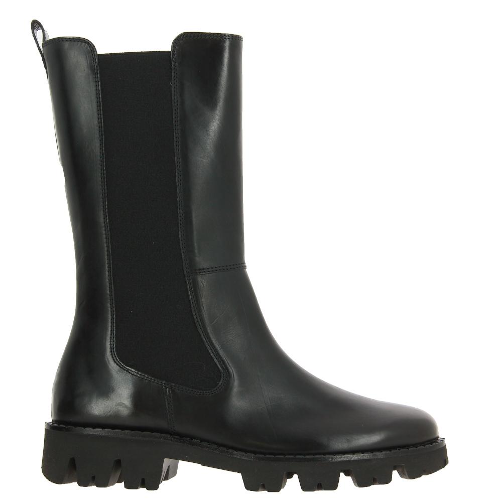 Paul Green boots BRUSH CALF BLACK