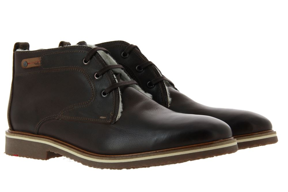 Lloyd lace-up ankle boots lined SEMI CUBA CALF EBONY CIGAR