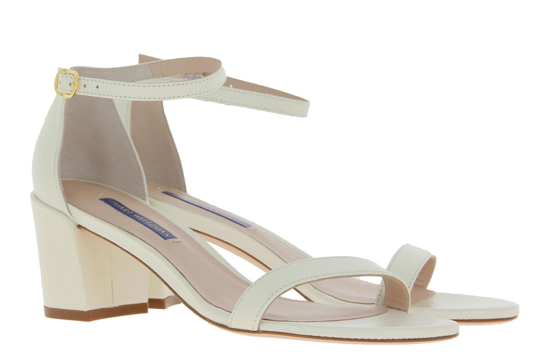 Stuart Weitzman sandals SIMPLE CREAM CAVIAR PATENT