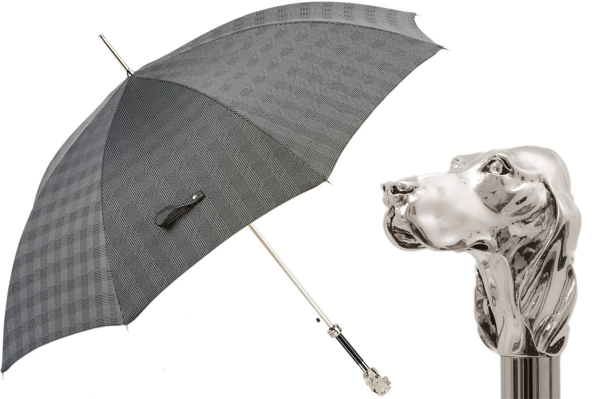 Pasotti Regenschirm MILFORD SILBERHUND