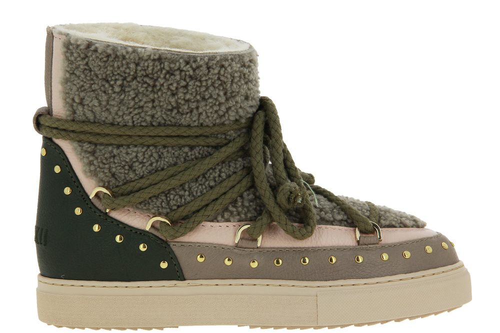 INUIKII boots lined CURLY ROCK OLIVE