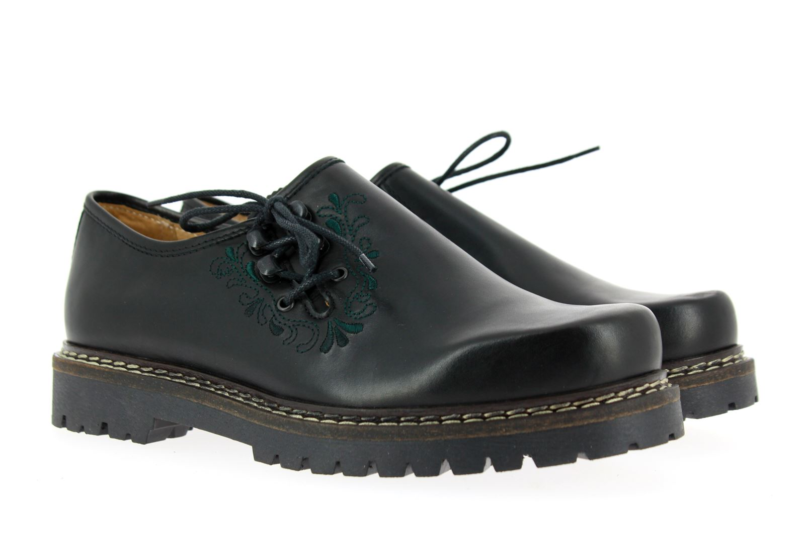 dirndl + bua Traditional Shoe SOFTY BLACK LEATHER