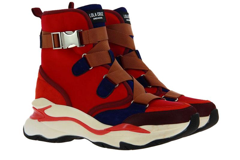Lola Cruz high top sneaker ROJO RED