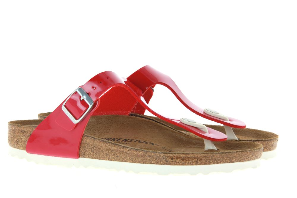 Birkenstock mules GIZEH NORMAL TANGO RED PATENT