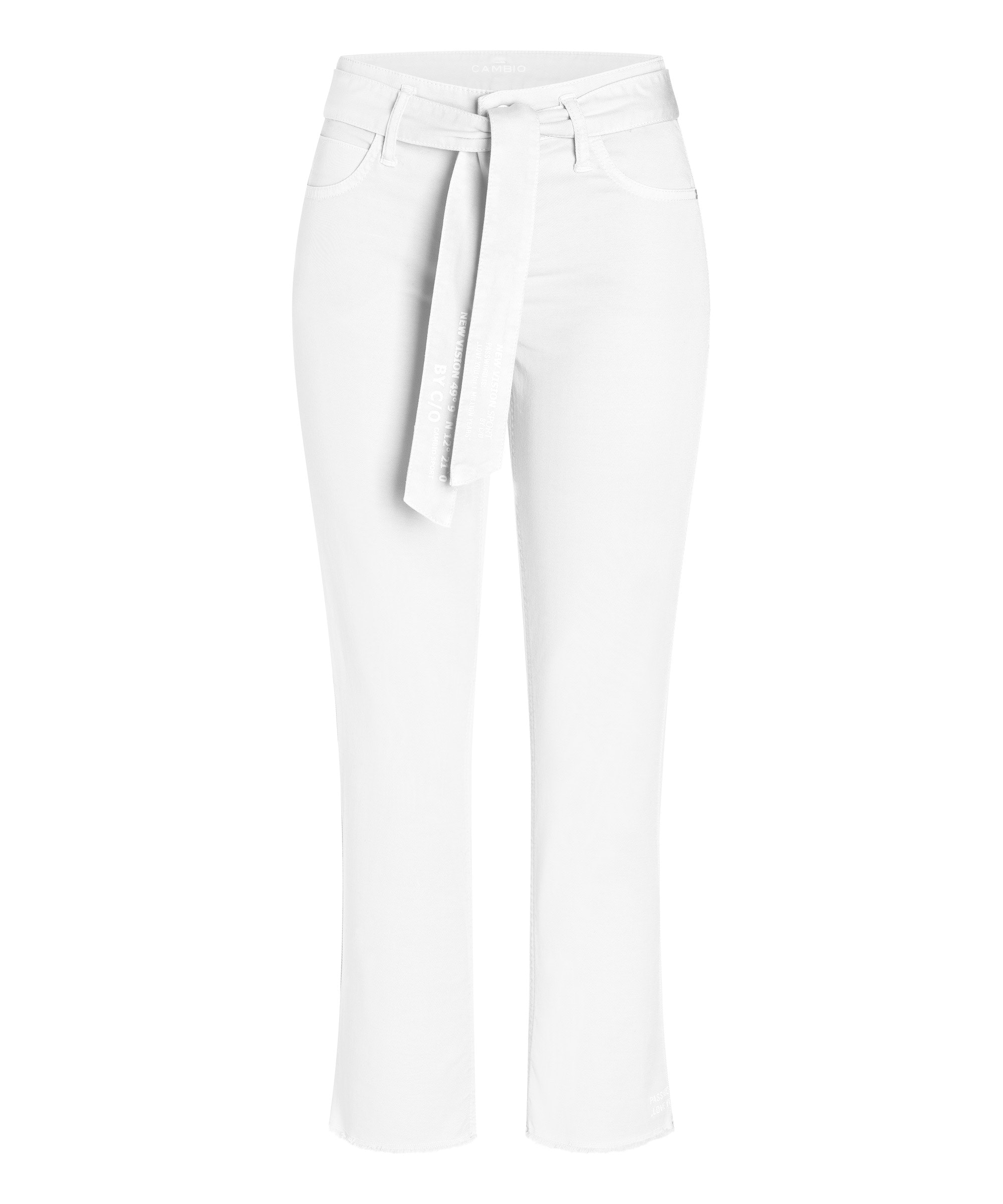 Cambio Stoffhose Scout cropped PURE WHITE