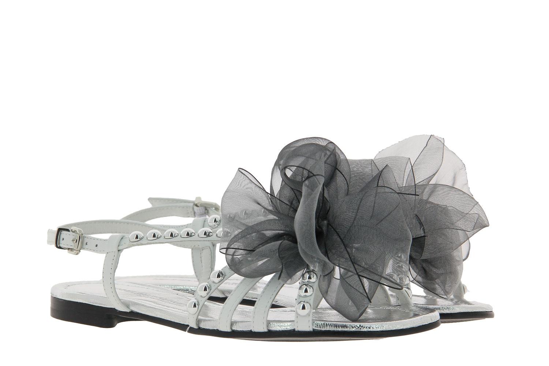 Kennel and Schmenger sandals ELLE CALF REFLECT LAMB BIANCO SILVER DARKGREY